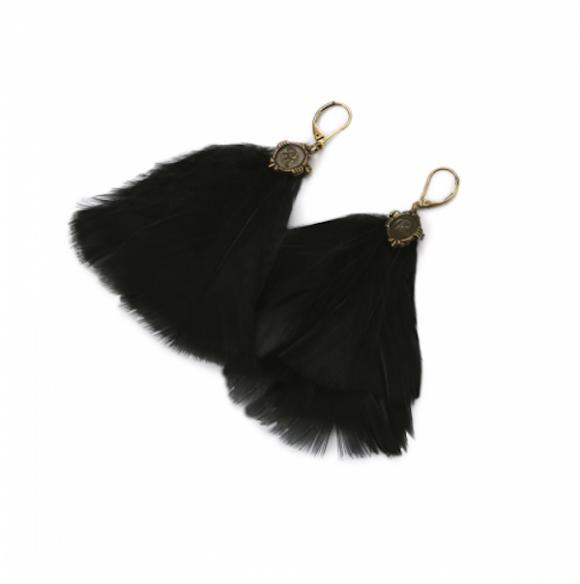 Boucles d'oreilles plumes, d'Agy Rev