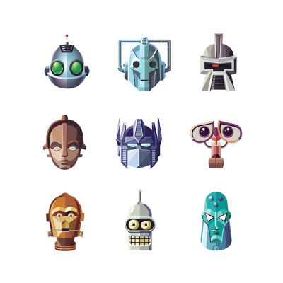 Famous Robots Project by Daniel Nyari