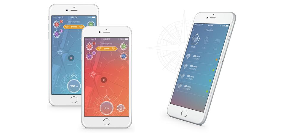Deux écrans de l'app IDEN