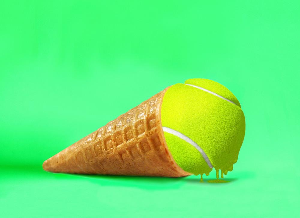 Photographie d'Eda Durust : un cornet de balle de tennis