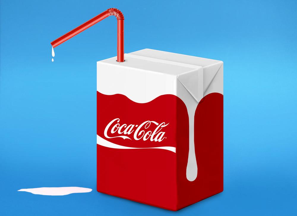 Photographie d'Eda Durust : un berlingot de Coca-Cola