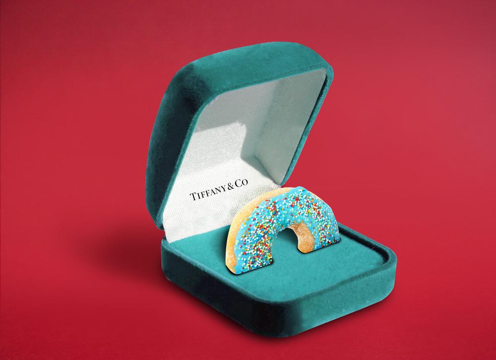 Photographie d'Eda Durust : un donnut de chez Tiffany