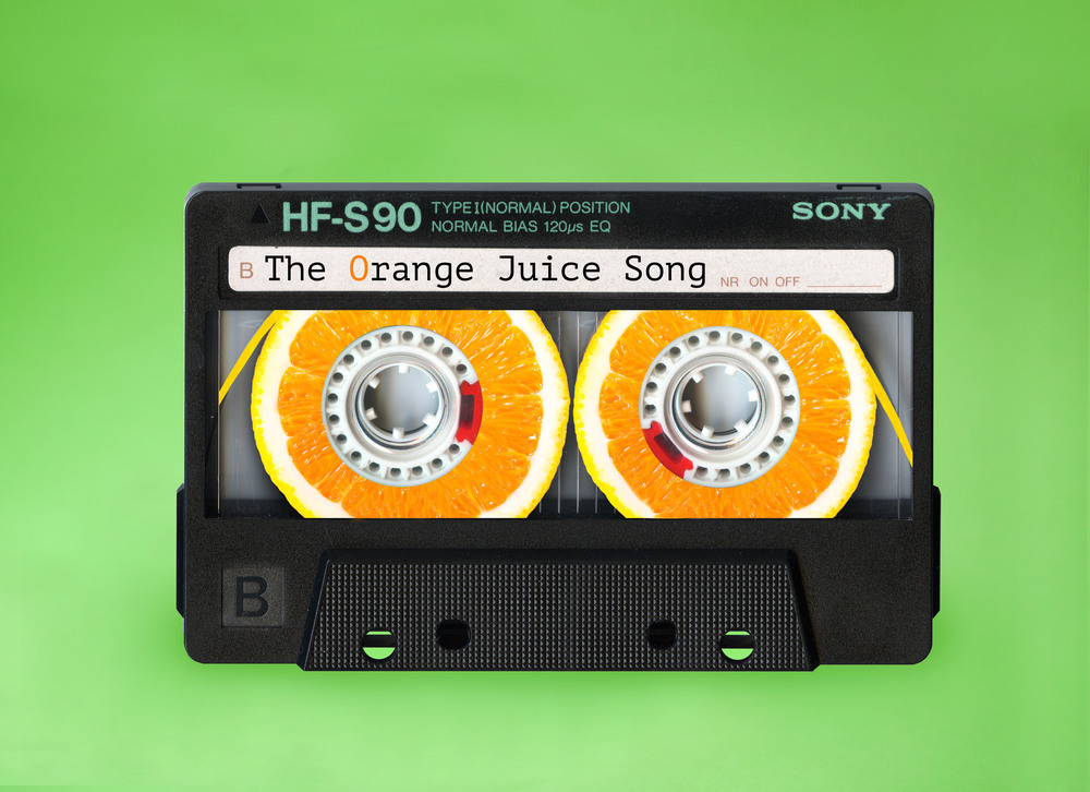 Photographie d'Eda Durust : une cassette faite d'oranges