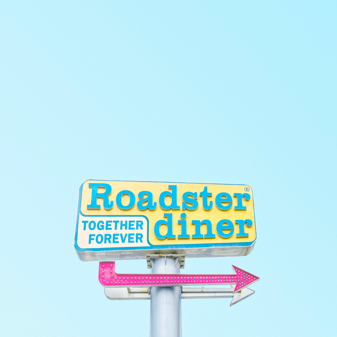 Candy minimal: Roadster Dinner by Matt Crump