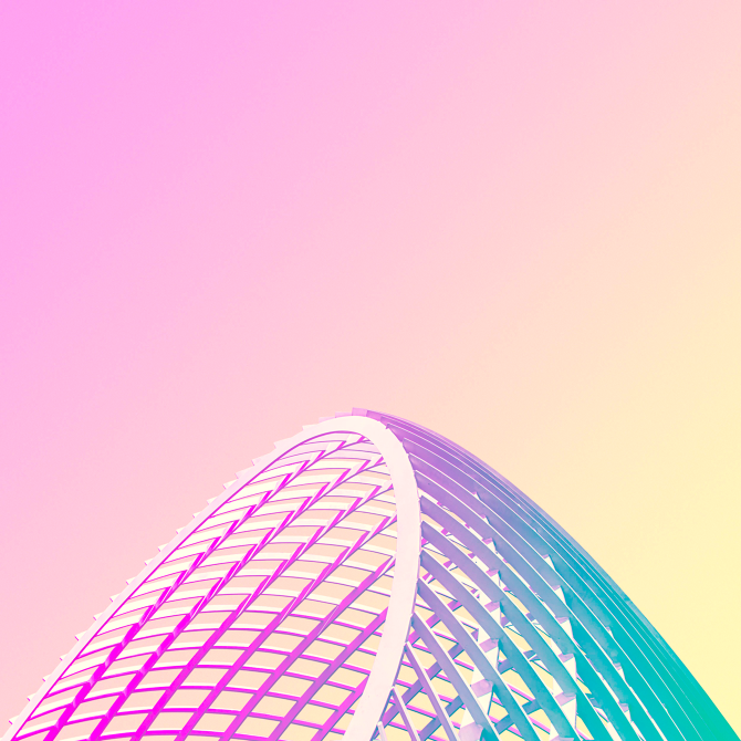 Candy minimalism: Parabola by Matt Crump