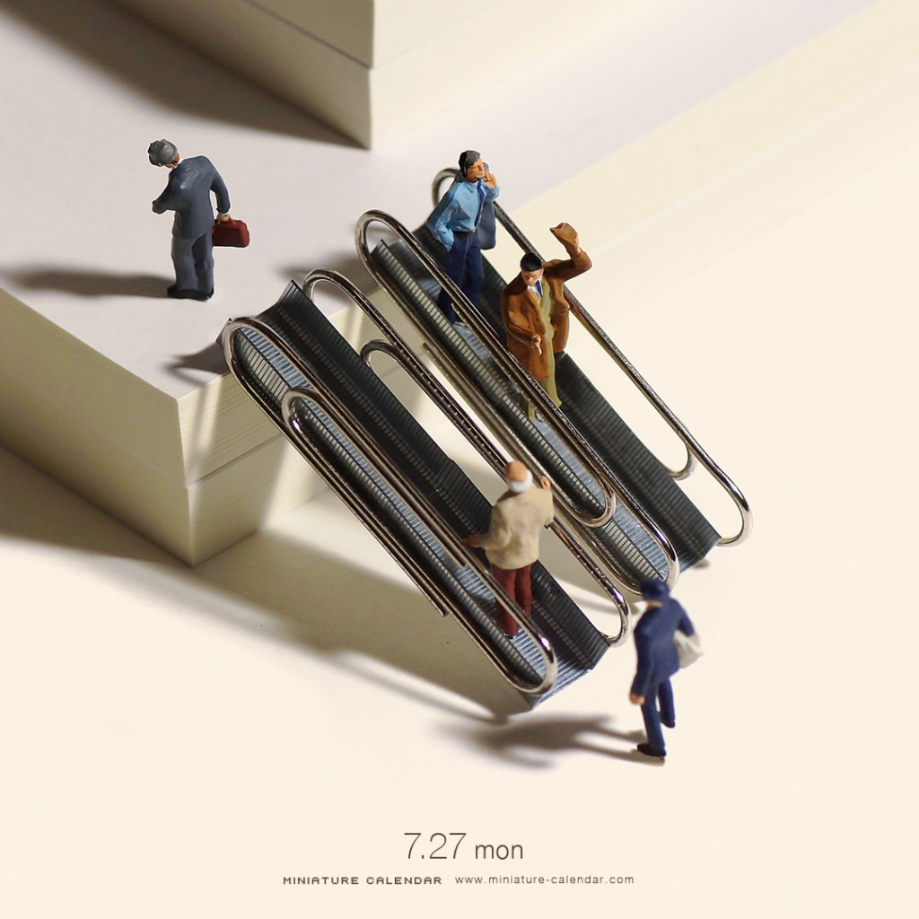 Calendier de miniatures : Escalator