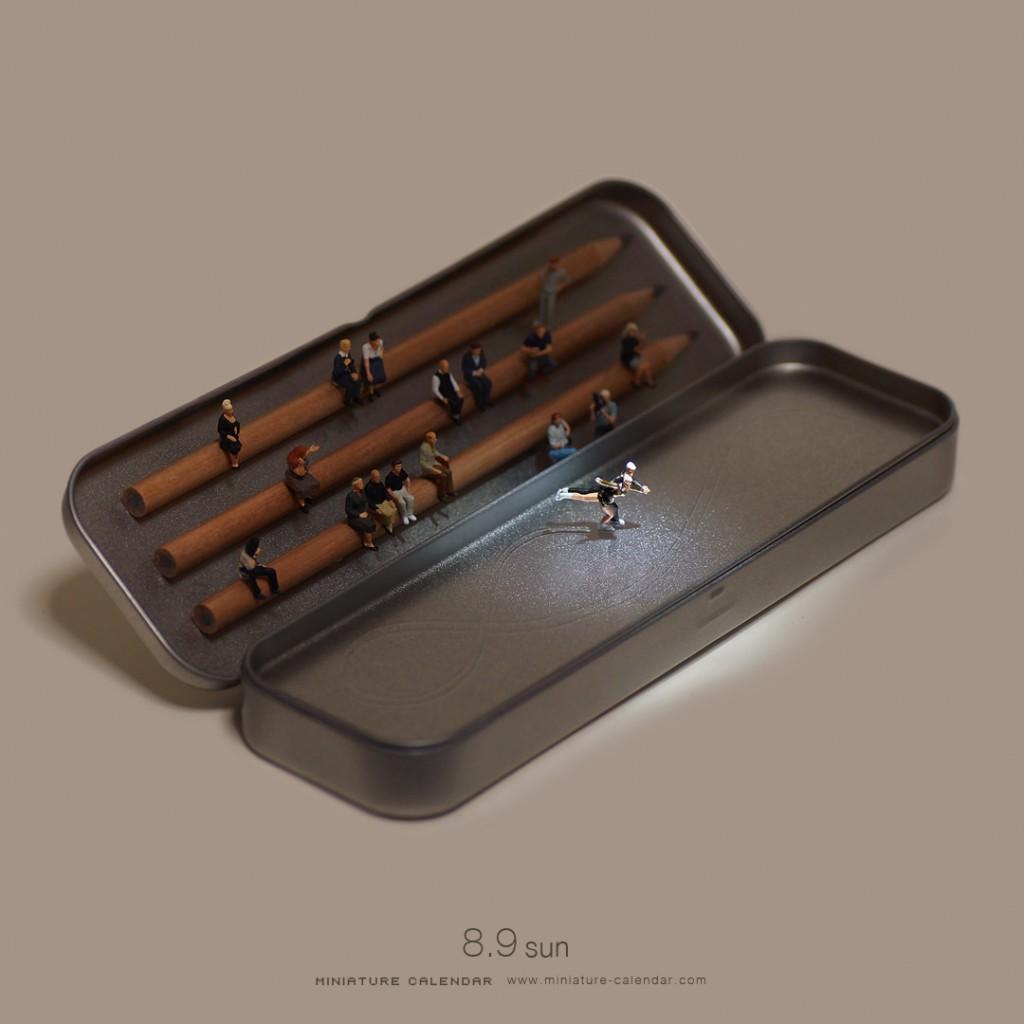 Miniature Calendar : Patin à glace