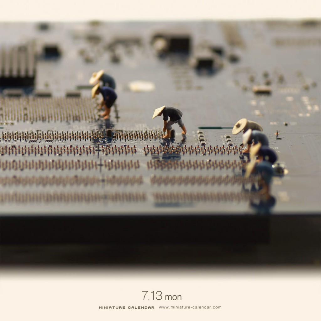 Miniature Calendar : Plantation de riz