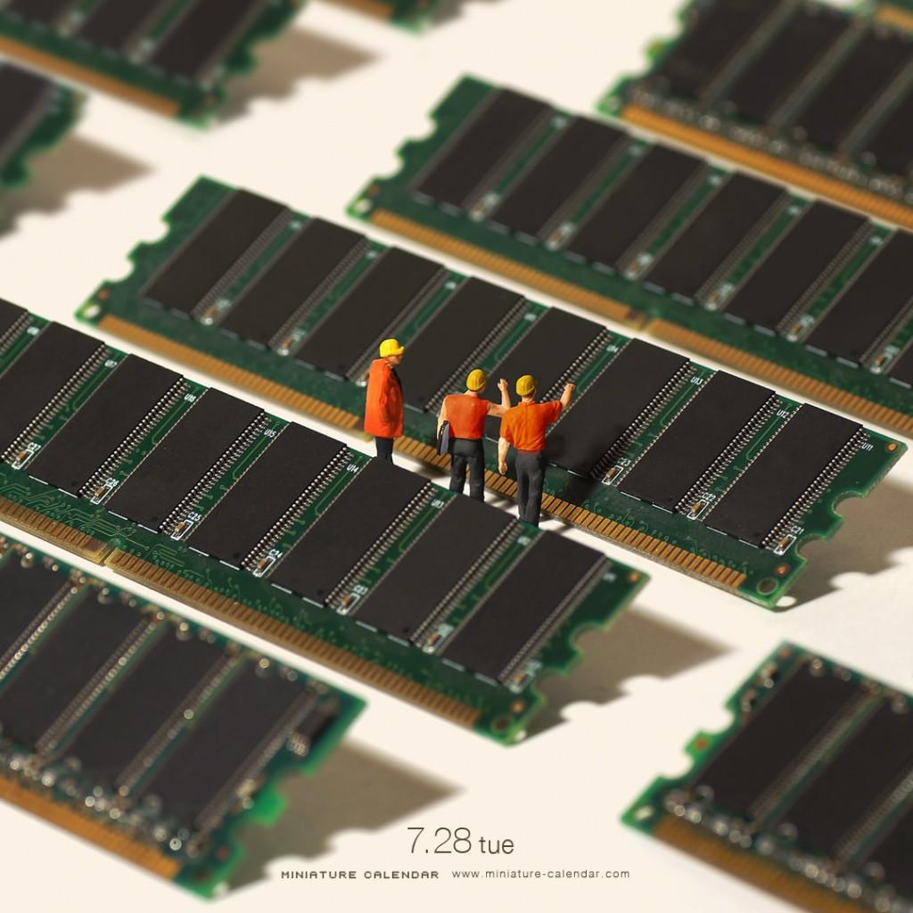 Miniature Calendar : Panneaux solaires