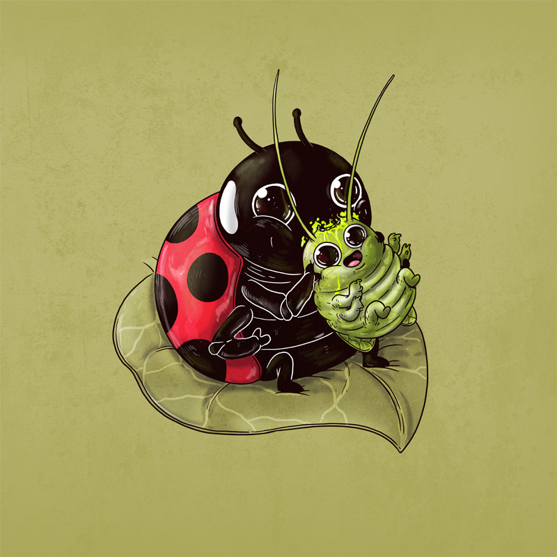 Illustration d'Alex Solis pour Adorable Circle of Life : Coccinelle et insecte
