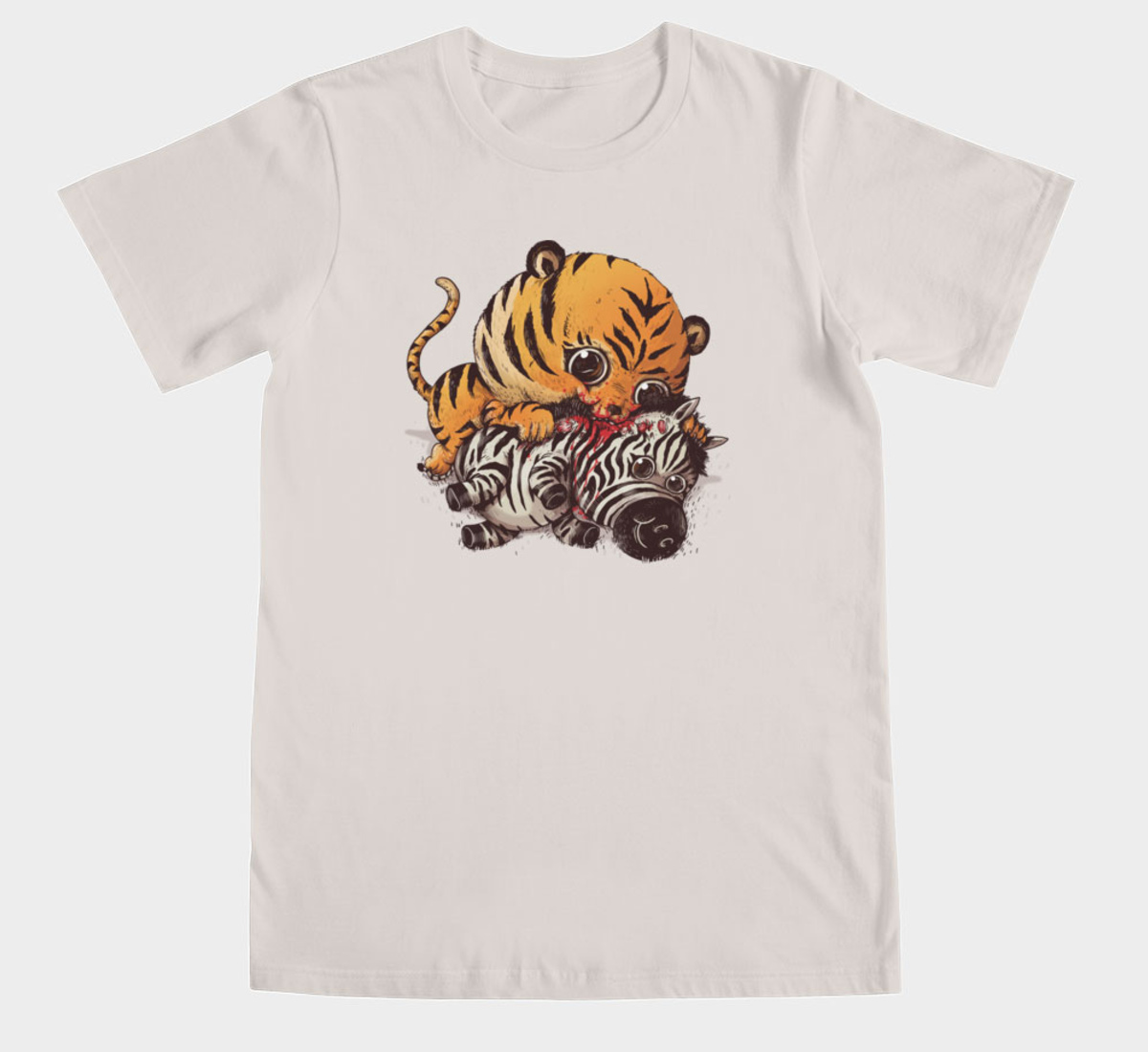 Illustration d'Alex Solis pour Adorable Circle of Life : Tigre et zèbre sur Tshirt