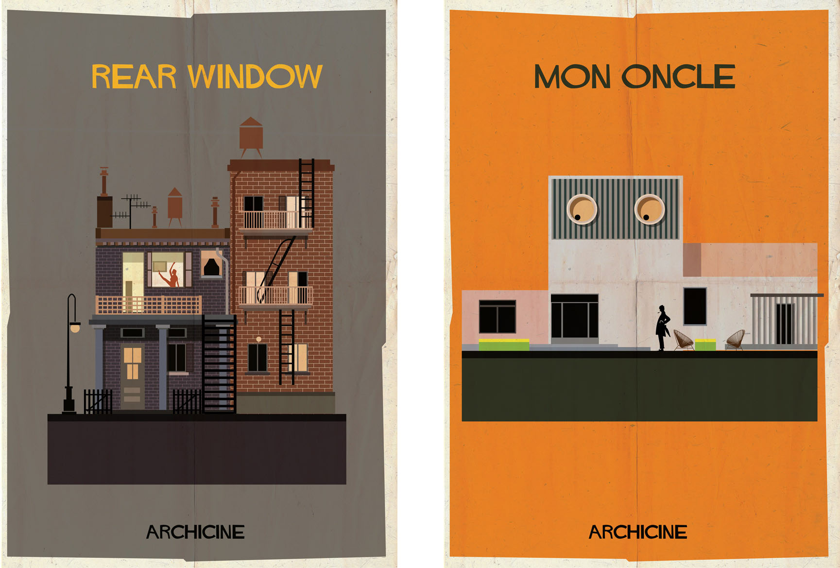 Rear window & Mon oncle: Archiciné by Federico Babina