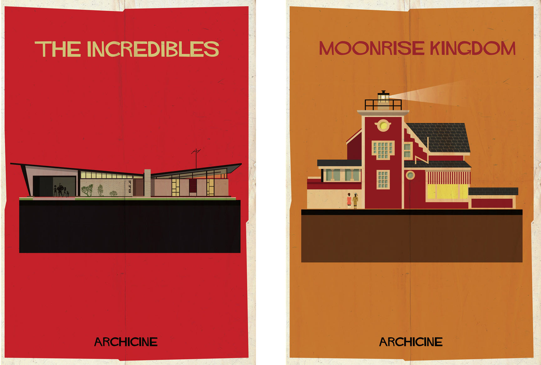 The incredibles & Moonrise kingdom: Archiciné by Federico Babina
