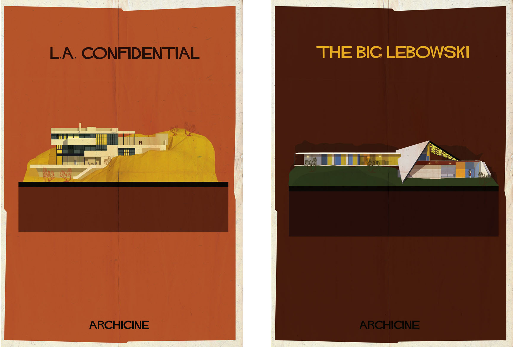 L.A. confidential & The big Lebowski: Archiciné by Federico Babina