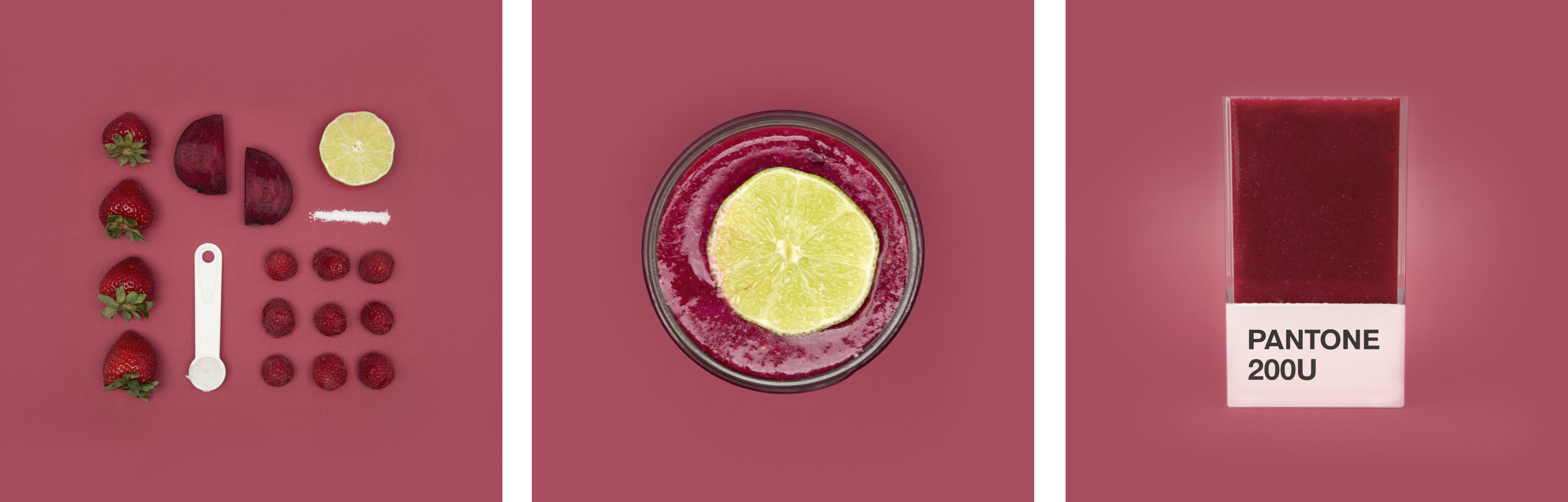 Smoothie Pantone bordeaux