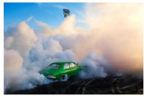 Burnout race car